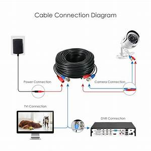 100ft Video Power Cable Bnc Rca Cord Wire For Security
