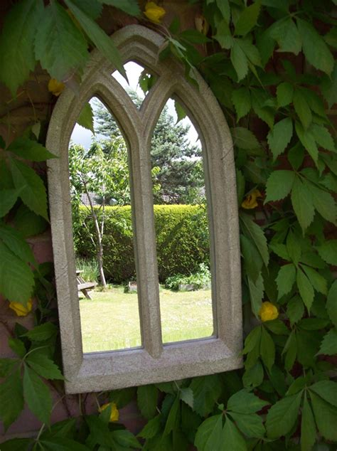 resin garden mirror large garden