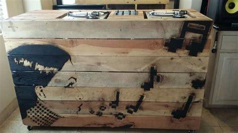 wooden dj booth artwork  blake byers  woodwork
