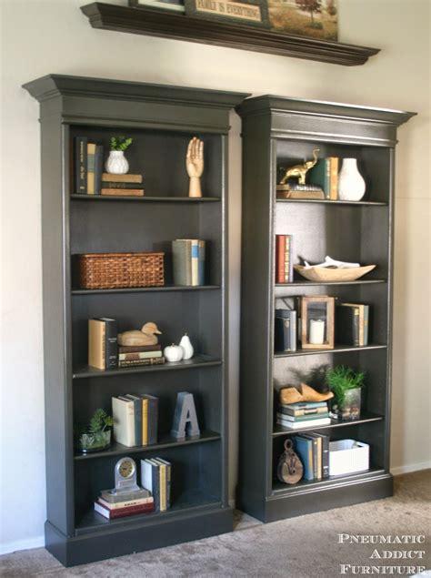 oak book shelf how to upgrade bookshelves pneumatic addict
