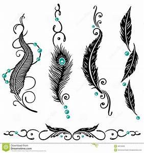 Tatouage Plume Indienne Signification : plumes indiennes image stock image du dessin mod le 40318299 ~ Melissatoandfro.com Idées de Décoration