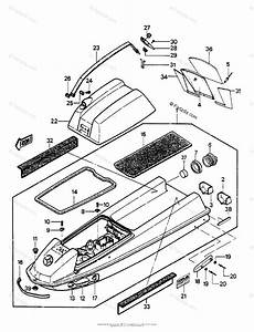 Kawasaki Jet Ski 1988 Oem Parts Diagram For Hull  Engine