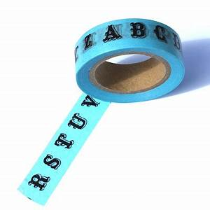 letter washi tape blue washi tape decorative tape With letter tape