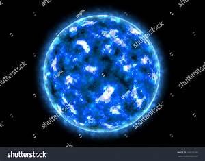 Illustration Super Massive Burning Illuminating Blue Stock ...
