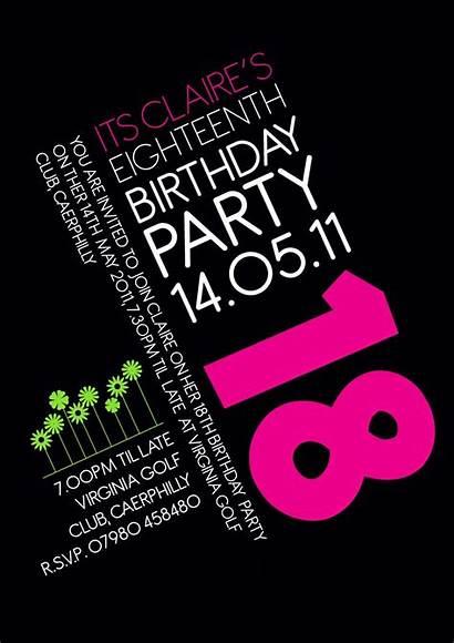18th Birthday Invitation Invitations Party Idea Pink