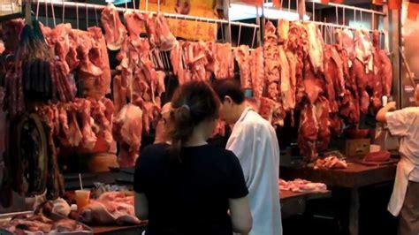 hong kong causeway bay  meat market street food chinese food youtube