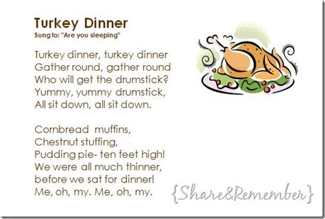 thanksgiving songs for preschool turkey dinner song 672