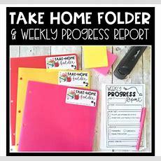 Take Home Folder & Weekly Progress Report By Create Teach