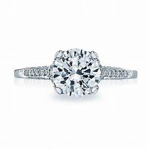 Tacori engagement rings platinum 25ctw diamond for Wedding rings tacori
