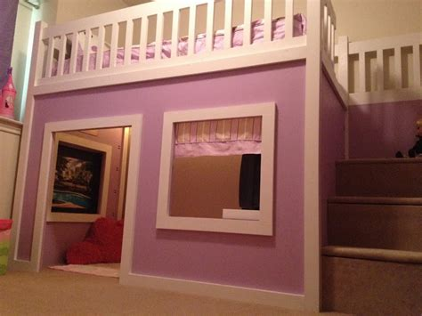 ana white chloes purple playhouse bed diy projects