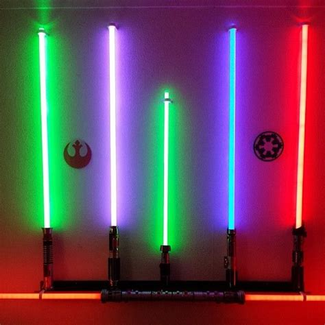 my master replica force fx lightsaber collection finally got wall mounted starwars