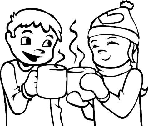 jeux de fille gratuit cuisine coloriage chocolat chaud à imprimer