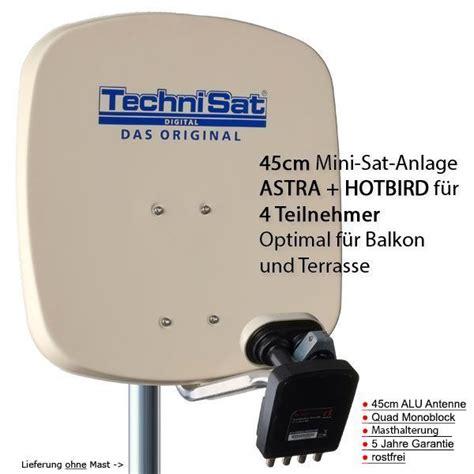 satellitenschüssel einstellen astra technisat digidish 45b mbq sat anlage komplett astra hotbird