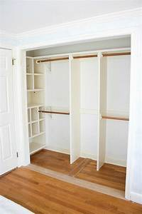 Replacing Bi-fold Closet Doors with Curtains: Our Closet