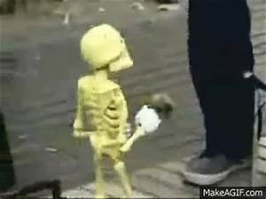 Skeleton puppet dancing and singing on Make a GIF