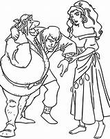 Hunchback Gypsies Dame Notre Coloring Cartoon Wecoloringpage Spread sketch template