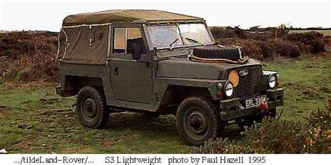 army light weight land rover