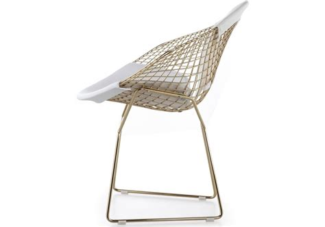 chaise bertoia knoll bertoia knoll chair in gold milia shop