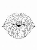 Lips Coloring Pages Printable Mycoloring sketch template