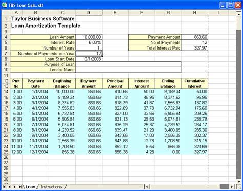 loan amortization spreadsheet template excel loan amortization template download ms excel