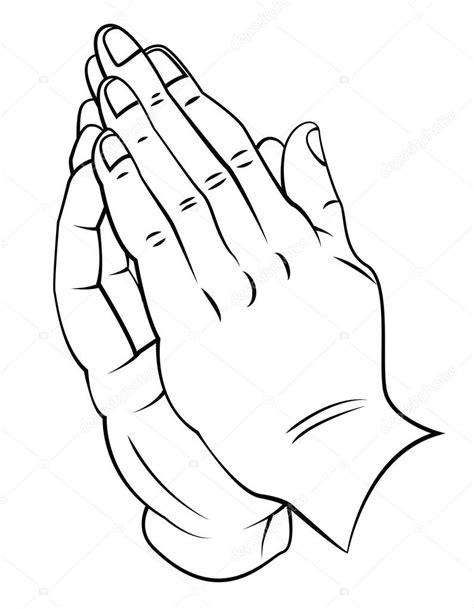 Biddende Handen Kleurplaat by Biddende Handen Stockvector 169 Funwayillustration 54807969