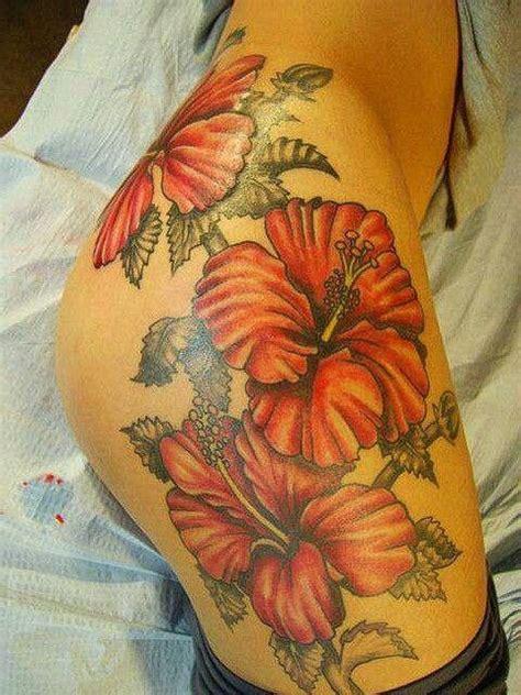 hibiscus flowers thigh tattoo tatts pinterest hibiscus flower thigh tattoos