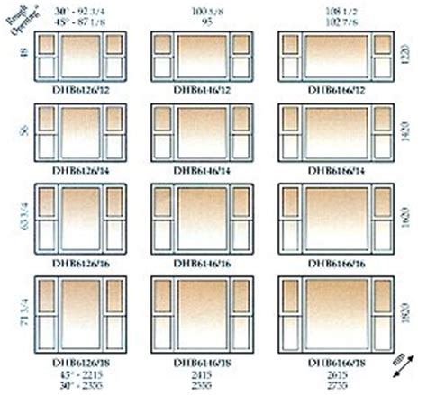 bay window bay window dimensions
