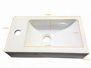 Waschbecken 40 Cm : sam g ste wc waschbecken 40 x 22 cm schwarz vega ~ Indierocktalk.com Haus und Dekorationen