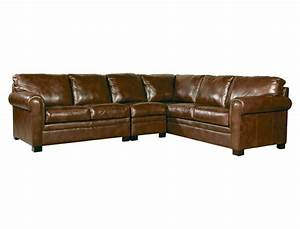 Jeromes avery 3pc sectional in leather californicana for Sectional couches jeromes