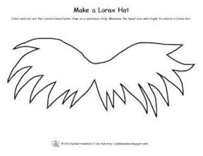 lorax mustache template pattern for lorax moustache hat school planning juxtapost