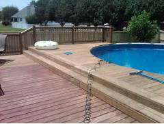 Swimming Pool Ideas With Deck Pertaining To Unique And Attractive Wooden Deck Pool Design Ideas