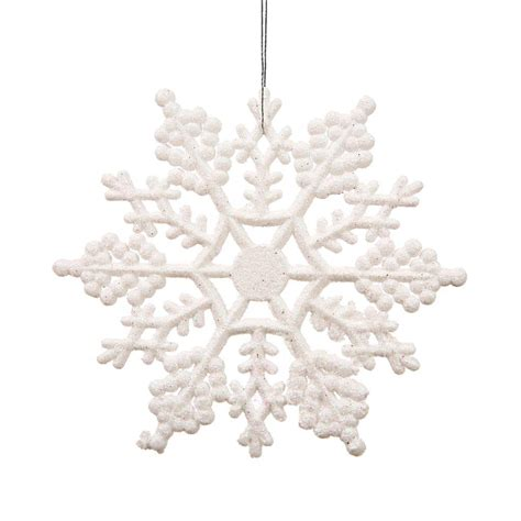 Vickerman White Glitter Snowflake Christmas