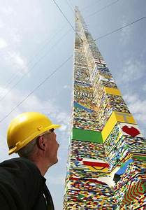 100 foot lego building 50th anniversary tower