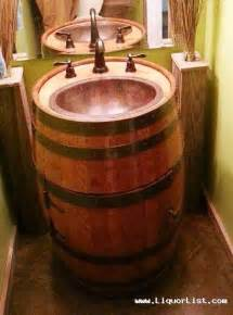 bourbon whiskey barrel sink for your bar or cave sold