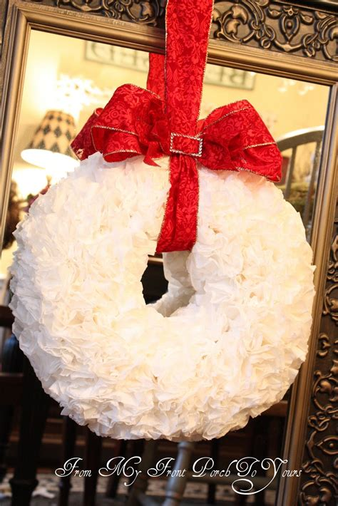 The edges are painted with acrylic paint to match the occasion or decor. From My Front Porch To Yours: Coffee Filter Wreath Tutorial