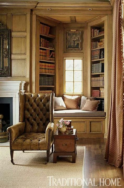 Comfortable Livable Alabama Home by Window Seat Bookcase Window Seating Home Libraries