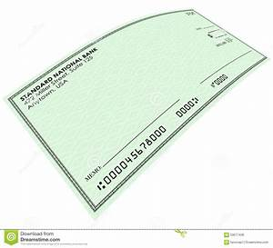 Blank Green Check Money Payment Bank Account Copy Space ...