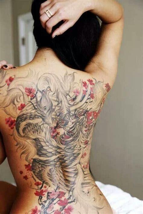 photo tattoo tres feminin phoenix japonais beauty