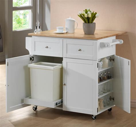 Small Kitchen Storage Solutions With Custom Wooden Island