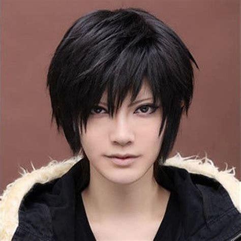 anime handsome boys short wig  vogue sexy mens male