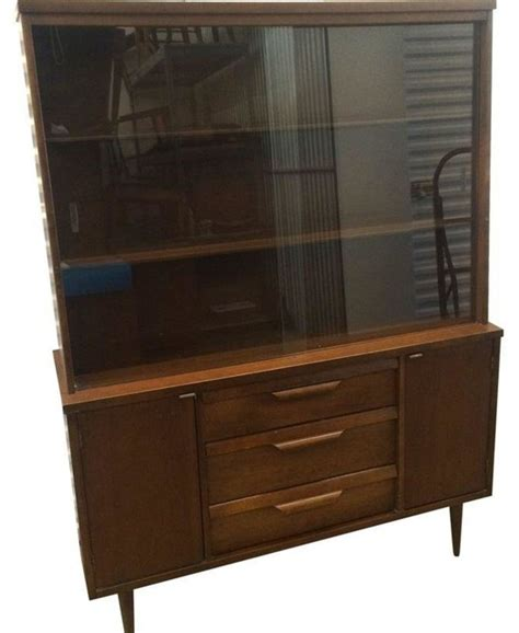 modern buffets and china cabinets mid century modern china cabinet by bassett modern