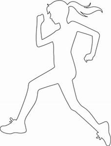 Lady Running Clipart (44+)