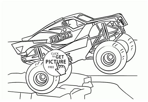 Monster Truck Iron Man Coloring Page For Kids