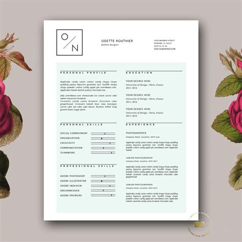 font used in creative resume 50 creative resume templates you won t believe are microsoft word fonts cv template and typo logo