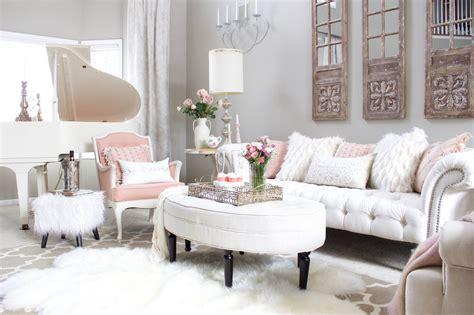 romantic blush pink living room valentines day decor
