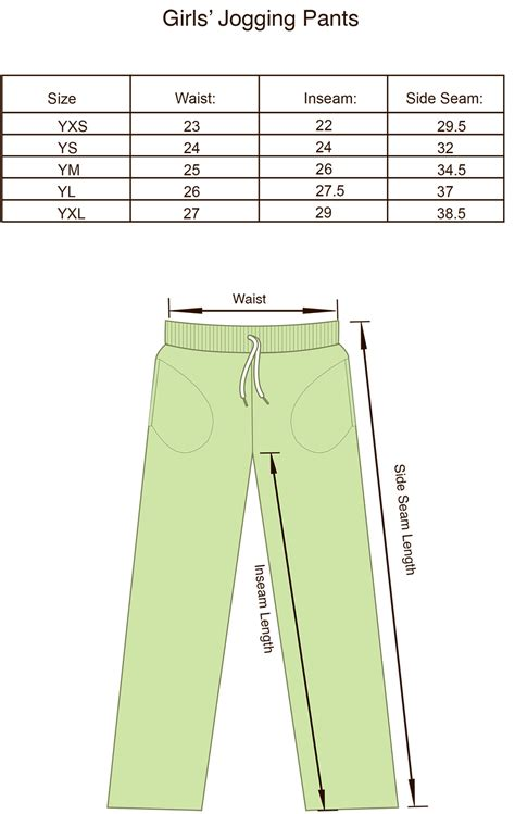 size charts  products projoy sportswears  apparel