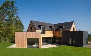 Maison bois d39architecte yvelines gilbert sa for Maison bois d architecte