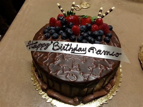 We look forward serving you. My other Birthday Cake from AJ's. Chocolate Mousse! - Yelp