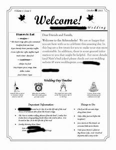 newsletter for out of town guests in the hotel guest bags With welcome letter for hotel guests wedding