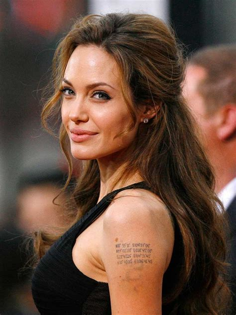 Angelina Jolie Tattoos ~ Fashion And Styles